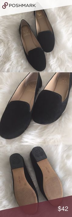 Black Vince Camuto flats I'm used condition but well taken care of  Size 7.5  Vince Camuto  Black  Prefect to style with skinny jeans  Comfortable from the inside   ❗️offers welcome ❗️ Vince Camuto Shoes Flats & Loafers