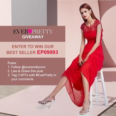 🎉 Ever-Pretty June Giveaway 🎉   Our Best Seller #EP09993 😎 Wanna Get it? ENTER NOW! 👉 Read rules on FB page  - Giveaway Expires on 6/16/18   #giveaway #topsellingdress #promdress #eveningdress  10% Off Ever Pretty Promo Code https://clothingtrial.com/coupon/everpretty