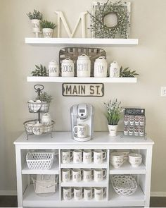 If you are a coffee lover, the best DIY coffee bar ideas for kitchen counter are here to inspire you coffee altar, your coffee worshiping game changes now! bar ideas kitchen counter 21 Charming DIY Coffee Station Ideas for All Coffee Lovers Coffee Bars In Kitchen, Coffee Bar Home, Home Coffee Stations, Coffee Bar Ideas, Coffee Counter, Coffee Kitchen Decor, Diy Coffe Bar, Coffe Decor, Wine And Coffee Bar