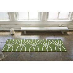 Notneutral Ribbon Green White Area Rug Reviews Wayfair