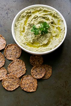 This healthy dip made from edamame and lentils is a great alternative to hummus! Vegan and nut free.