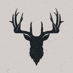 something with camo Antler Tattoos, Stag Tattoo, Head Tattoos, Small Tattoos, Deer Skull Tattoos, Hirsch Silhouette, Deer Head Silhouette, Deer Art, Moose Art