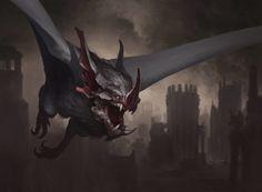 Malakir Familiar - Battle for Zendikar MtG Art