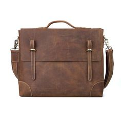 Men's Real Leather Messenger Shoulder Bag Laptop Briefcase Business Cross Body #Tiding #MessengerShoulderBag