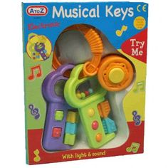 Now baby can match mummy and daddy with his own set of musical car keys. These brightly coloured keys keep baby entertained with plastic push buttons for music, lights and even car sounds. A timeless toy that will keep baby occupied so the parents can do the real driving.