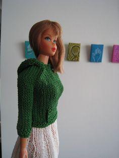 Barbie Doll Knitting Pattern Hoodie Kangaroo by KellyMullanDesigns, $2.50