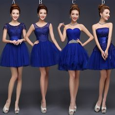 Blue Knee Wedding Dress