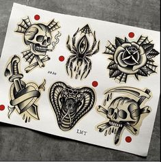Traditional Tattoo Sketches, Neo Traditional Tattoo, Traditional Flash, American Traditional, Small Tattoos, Cool Tattoos, Tattoo Flash Art, Black And Grey Tattoos, Tattoo Inspiration