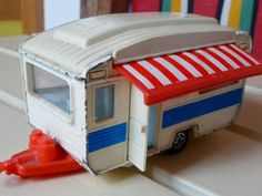 1970's Corgi toy caravan. Too cool! I would love to have this!