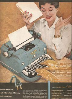 vintage office advertisement   ... Vintage Advertisement Vintage Electric Typewriter Office Decor Ready