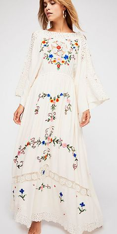 #boho #bohemian #dress #kimono #bohostyle