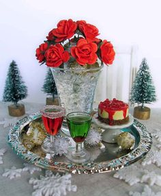 Hey, I found this really awesome Etsy listing at https://www.etsy.com/listing/207175167/holiday-celebration-set-on-silver-tray