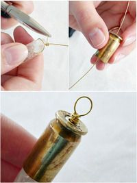 How to make a pendant. Fascinating Jewelry Making Craft   Diy Bullet Necklace - Step 2
