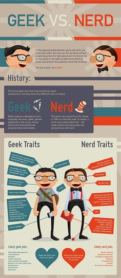 Another fantastic Geek versus Nerd infographic