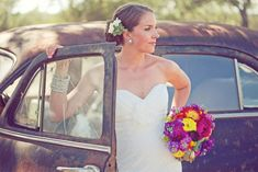 A Colorful Texas Mexican Inspired Wedding: Sara + Bob,  love every thing! the bouquet, the colours, the fun!