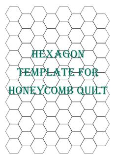Would love to make a hexagon quilt some day... MaryJanesFarm | Recipes-Patterns-Instructions