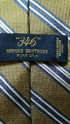 BROOKS BROTHERS Striped Blue Gold Repp Neck Tie Italy
