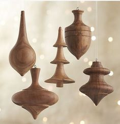 Georgeous wooden Christmas ornaments.