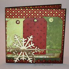 Lindas papercrafting: Julekort laget på treffet på Stempelscrap messa del 1