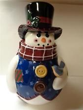 Mother Browns 1998 Snow Man Cookie Jar Canister by Coynes & Company Christmas
