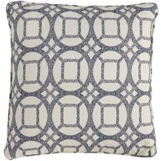 It may feel wrong to toss such a pretty pillow outside on patio furniture, but fear not—Keegan is both rugged and attractive. Made of UV-treated material that's mildew-resistant, the flange trim and blue Moroccan tile motif bring an artful, geometric touch to outdoor decor. Factor in the value, and we figure it adds up to a wise buy.