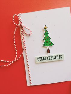 Simple and stylish Christmas card made with A Muse Studio stamps (Be Light) & dies.  Color with Copics.  Add some baker's cording.  #diy #handmade #stamping