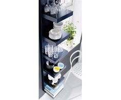 Squeeze a Little Extra Storage Out of a Small Bathroom Using Ikea Lack Shelves. Squeeze a Little Extra Storage Out of a Small Bathroom Using Ikea Lack Shelves. Ikea Lack Wall Shelf, Lack Shelf, Wall Shelf Unit, Ikea Bookcase, Wall Shelves, Bathroom Shelves, Bathroom Ideas, Wall Storage, Bathroom Interior