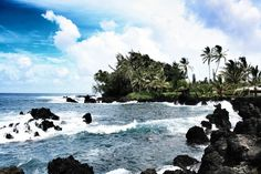 Ke'anae Valley Lookout Park, Maui, Hawaii — by Little Mermaid At Sea. Take the turnoff between mile marker 16 and 17 on the ocean side of the road to make the short detour to the Ke'anae Peninsula. | www.littlemermaidatsea.com