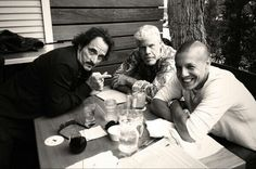 kim coates, ron pearlman, theo rossi Oh man, would I LOVE to have lunch with these three goofs!