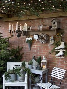 Spend the Christmas holidays outdoors and present your guests and passers-by the most beautiful garden in Christmas clothes - Garten und Gartendeko - Christmas Garden, Christmas Porch, Winter Garden, Outdoor Christmas, Christmas Holidays, Christmas Decorations, Christmas Clothes, Autumn Decorations, Xmas