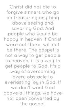 ~John Piper : Something to ponder, deeply. :)