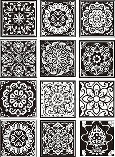 Stencil Patterns, Wood Patterns, Fabric Patterns, Gothic Pattern, Chinese Patterns, Tile Crafts, Oriental Pattern, Mandala Drawing, Diy Furniture Plans