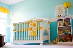 Gorgeous Teal and Yellow Nursery