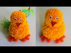 YouTube Diy Easter Chick/Easter Craft for kids/pom-pom chicks/Cute chick Making tutorial/Craft for kids Easter Chick, Easter Crafts For Kids, Craft Tutorials, Easy Crafts, Crochet Hats, Cute, Youtube, How To Make, Diy