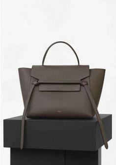 S/S 2016 Celine Collection Outlet-Celine Mini Belt Bag in Chestnut Goatskin