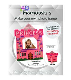 Framous Kits-Princess Pink Framous Plastic Canvas Kit