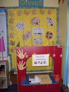 Diwali Hinduism Display, class display, Buddhism, Diwali, Divali Diwali Eyfs, Diwali Diy, Diwali Party, Diwali Activities, Eyfs Activities, Interactive Activities, Class Displays, School Displays, Classroom Displays