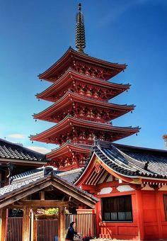 Five-storied pagoda at Asakusa, Tokyo