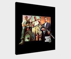 "Grand Theft Auto V-30 X 30 cm Große Leinwand, Gerahmt, Motiv ""Michael Poster GTA 5: Amazon.de: Küche & Haushalt"
