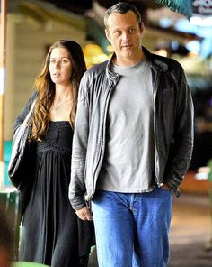 In case some of you forgot (it's fine — we won't tell), Vince Vaughn, 44, is married to the lovely Kyla Weber, as they reminded us on Tue when they were photographed during a rare public night out at The Grove in L.A. The pair, who tied the knot on Jan. 2, 2010, and have two children together, were spotted holding hands as they strolled through the outdoor shopping mall after their dinner at La Piazza Ristorante Italiano. Their last candid photo op was back in May, Vince Vaughn, Second Child, Shopping Mall, Love And Marriage, Candid, Holding Hands, Night Out, Knot