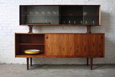 Undeniable Dyrlund Roswood Danish Mid Century Modern Credenza with ...