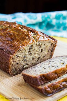 Warm, moist and tender banana bread is the best thing you can have in the morning, besides coffee!