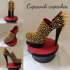 Laboutin Inspired Spiked Gumpaste Shoe All Handmade