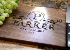 Personalized Engraved Cutting Board by StragaCuttingBoards