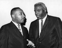 Reverend Dr. Martin Luther King, Jr. and Hall of Famer Jackie Robinson
