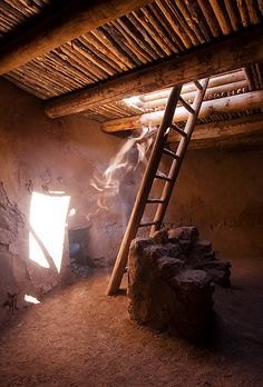 Inside a Kiva in the Pecos Pueblo, Pecos National Historic Park, New Mexico