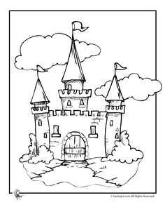 coloring pages of castles with draw bridge cinderella castle coloring pages