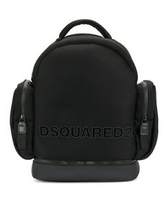 DSQUARED2 Dsquared2 Men's  Black Polyamide Backpack. #dsquared2 #bags #leather #polyester #backpacks #