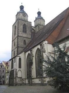 Wittenberg town church where Luther posted his 95 theses
