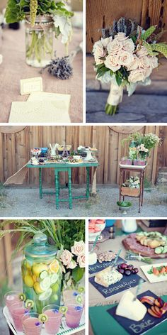 food and drink displays inspired by this vintage farm to table styled wedding shoot | ae martin photography and leslie miller event design